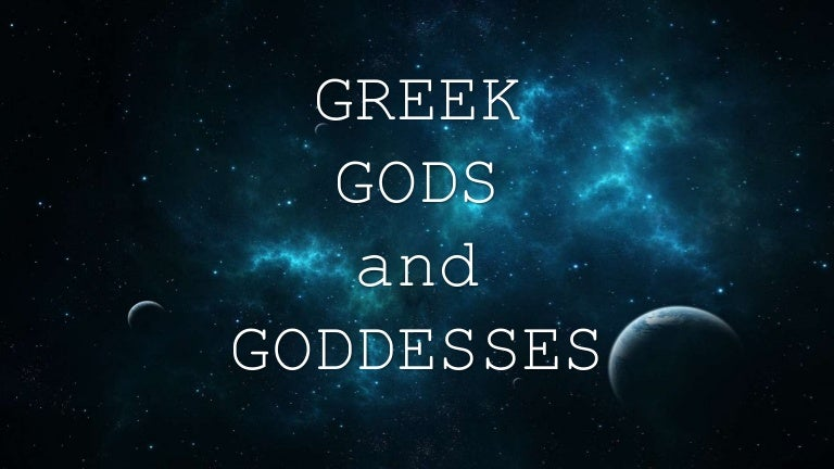 Greek Mythology Gods And Goddesses
