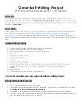 Greenbelt Writing Project Guidelines Grade 6 Spring 2017