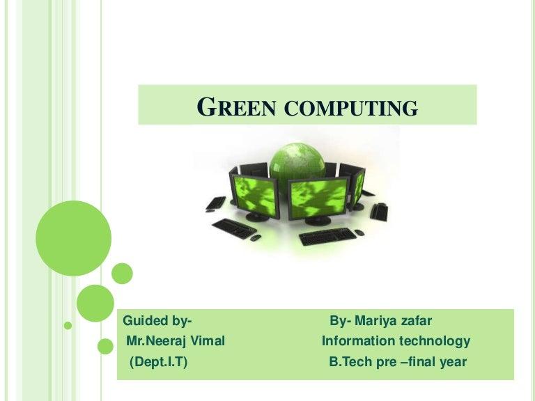 green computing definition