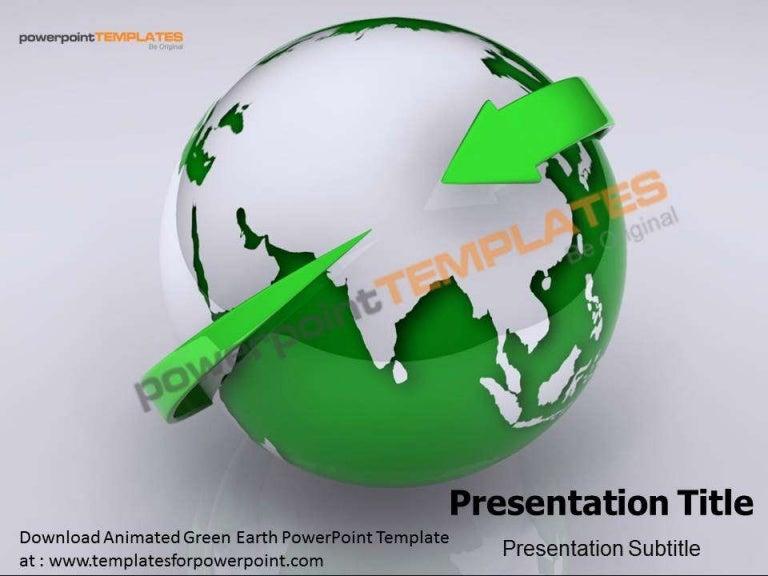 Animated green earth powerpoint template templatesforpowerpoint toneelgroepblik Gallery