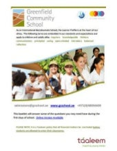 Greenfield Community School - Information & Contact Details