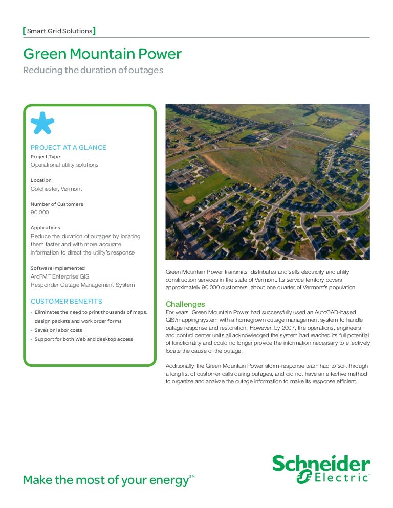 Case Study Green Mountain Power Reducing The Duration Of Outages