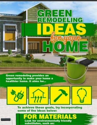 Green remodeling ideas for your home
