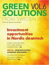 All new Green Solutions from Sweden and Nordics vol 6 2014