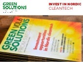 Green Solutions from Sweden and the Nordics magazine info - book now