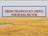 Green Technology Useful For Rural Sector