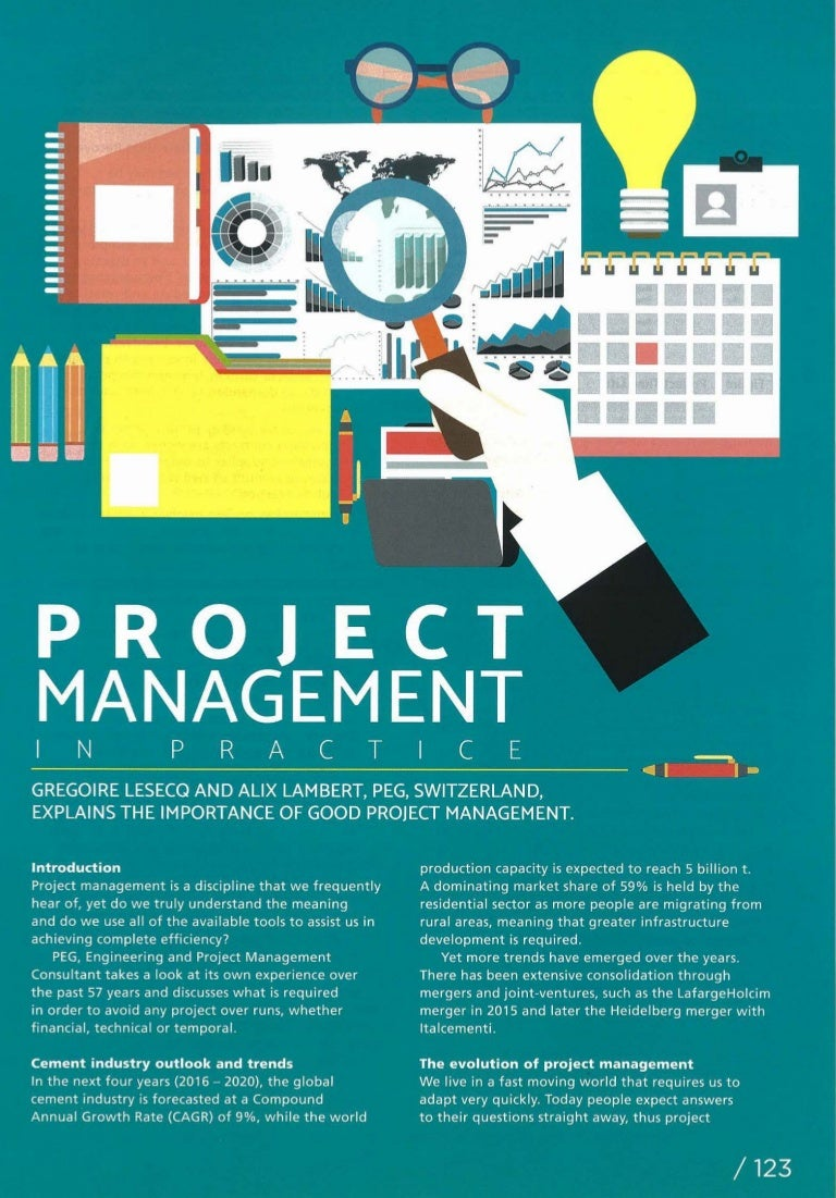 project management in practice world cement magazine nov 2016