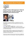 Global Product Management Talk On Findings From The 2014 Study Of Product Team Performance
