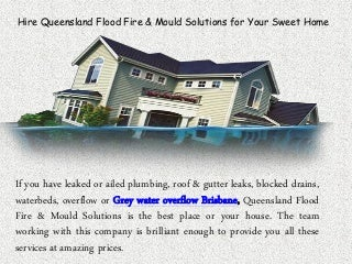 Grey Water Overflow Brisbane, Grey Water in House Brisbane