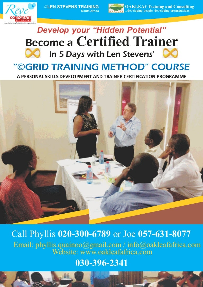 Become a certified trainer with len stevens in 5 days 1betcityfo Gallery