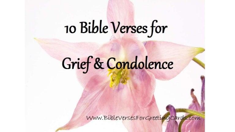 bible verses for grief condolence