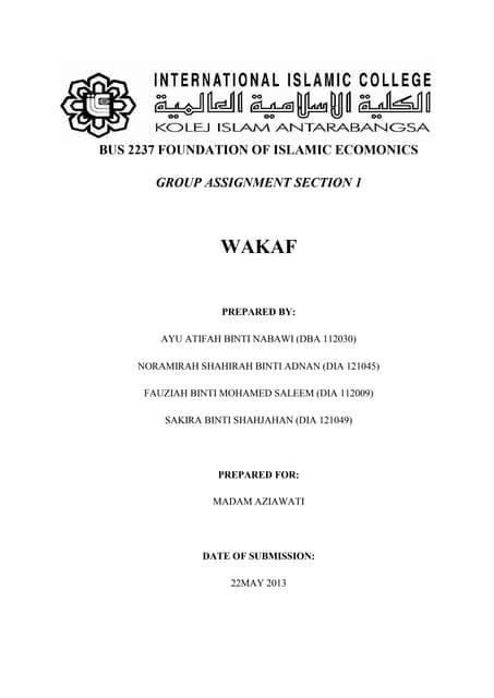 Foundation of Islamic: Wakaf