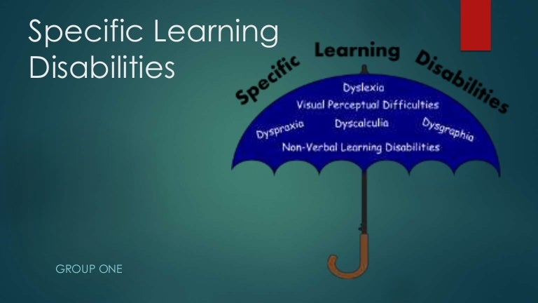 Learning disabilities: idea learning disability.