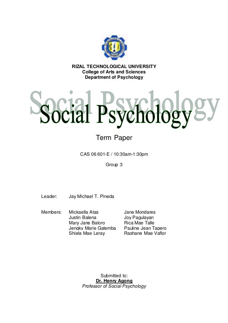 University term paper