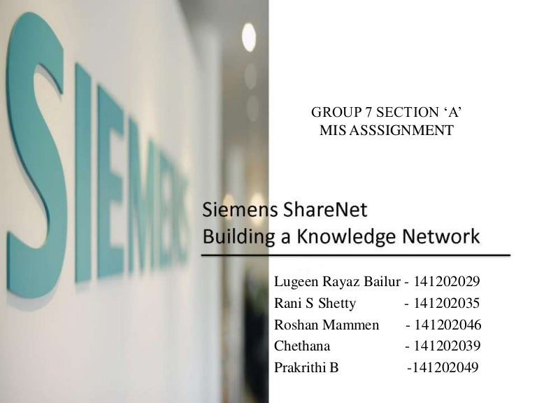 Group7,section a,siemenscase