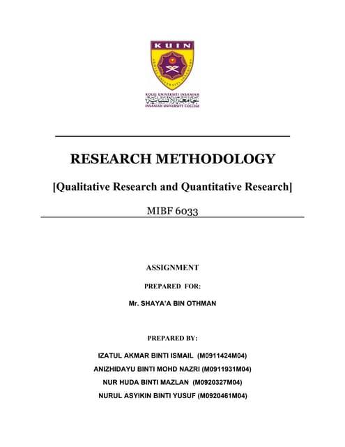 Note 3. Qualitative Research Vs Quantitative Research