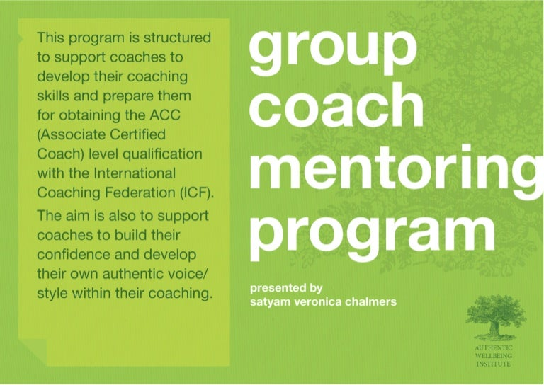 ACC Group Coach Mentoring Program Outline