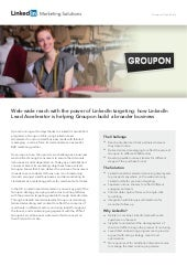 Groupon: Building a broader business through Lead Accelerator