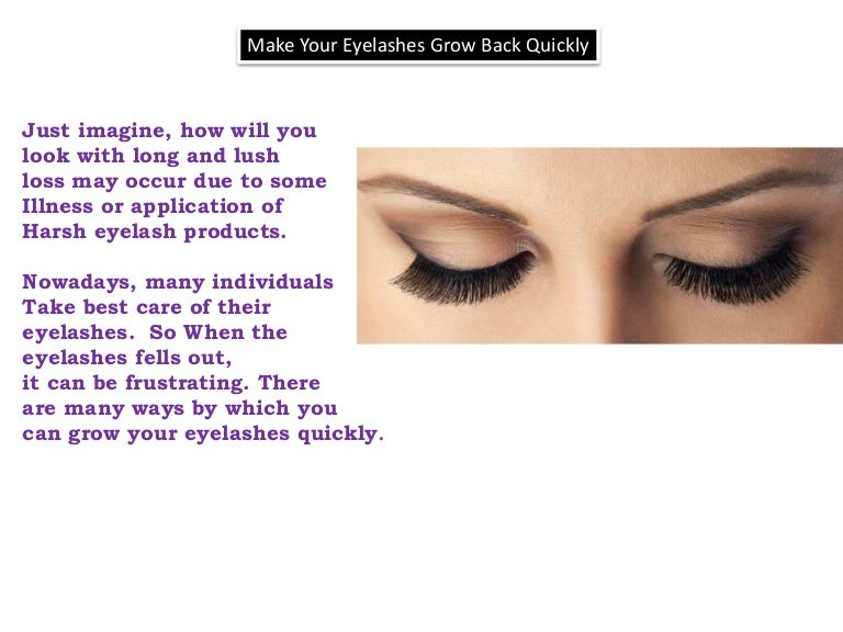 How To Grow Eyelashes Quickly And Naturally
