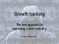 Growth hacking - the new approach to marketing in tech industry.