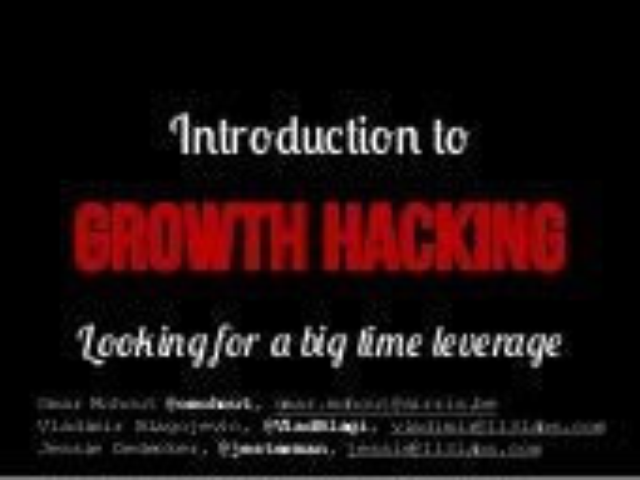 Growth Hacking Belgium (kick-off)