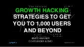 Growth Hacking to 1,000 Users & Beyond