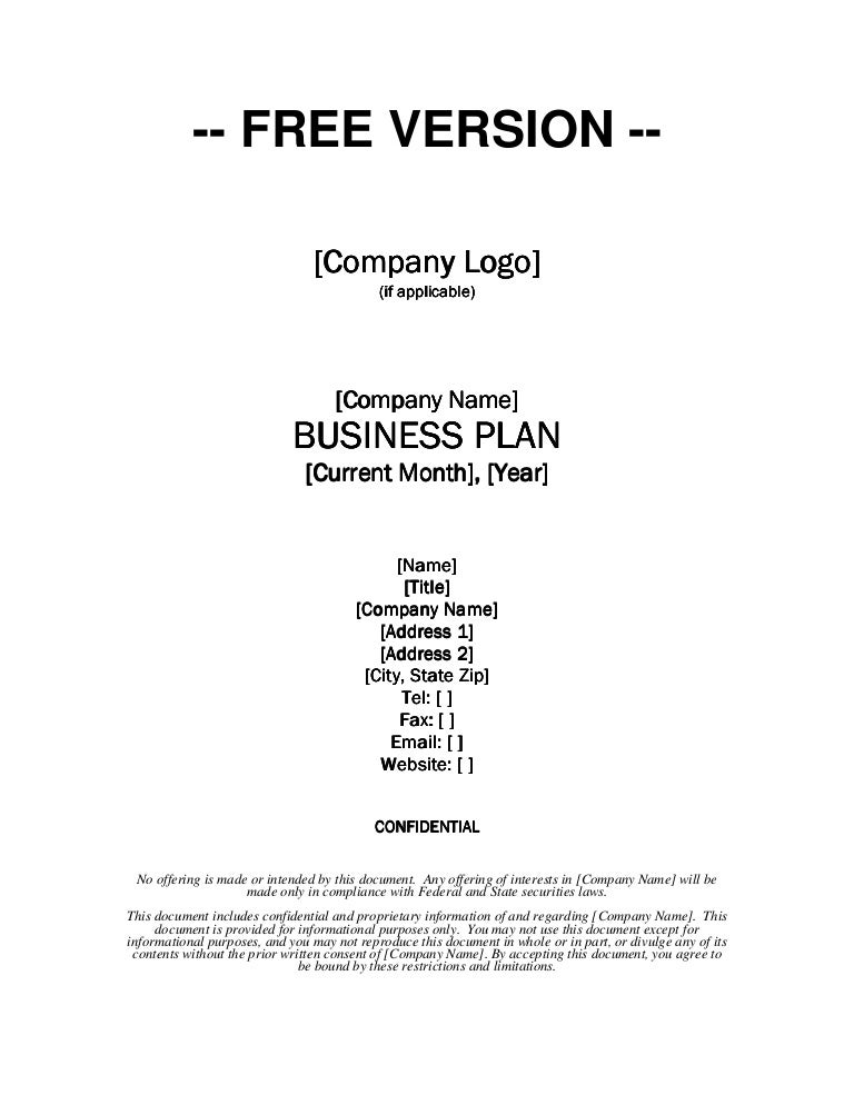 Growthink business plan template free download wajeb Images