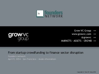 Grow VC Group crowdfunding presentation at founders network