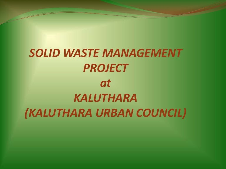 Solid Waste Management Project