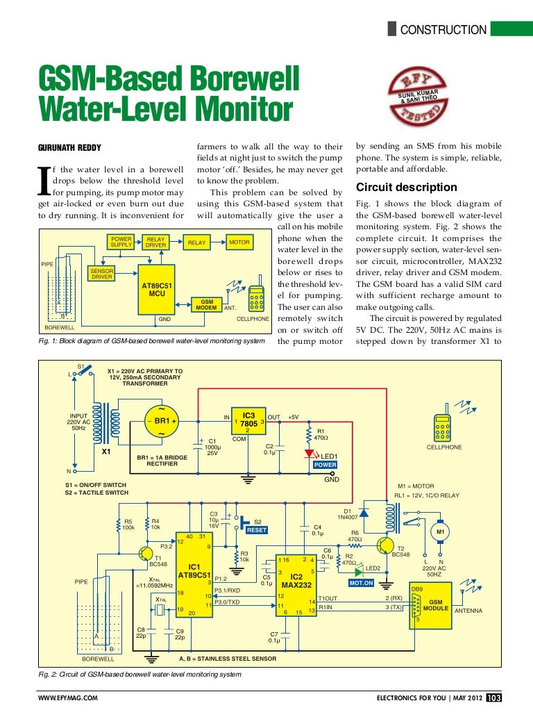 Water Level Indicator With Alarm Electronic Circuit Electronic