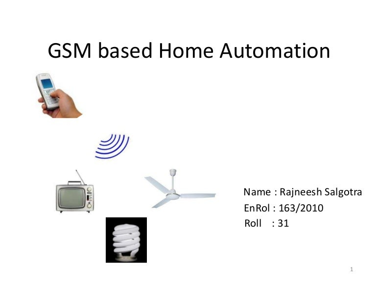 Home automation project report pdf