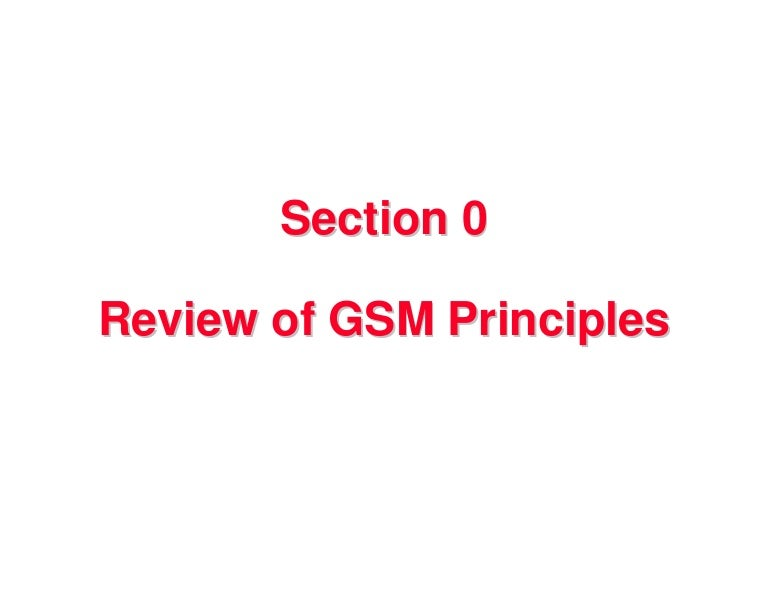 Gsm review note by zemaryali