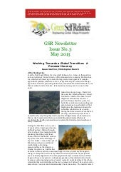 GSR Newsletter Issue No. 3 - May 2013