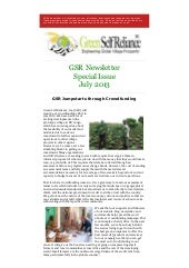 GSR Newsletter Special Issue - July 2013