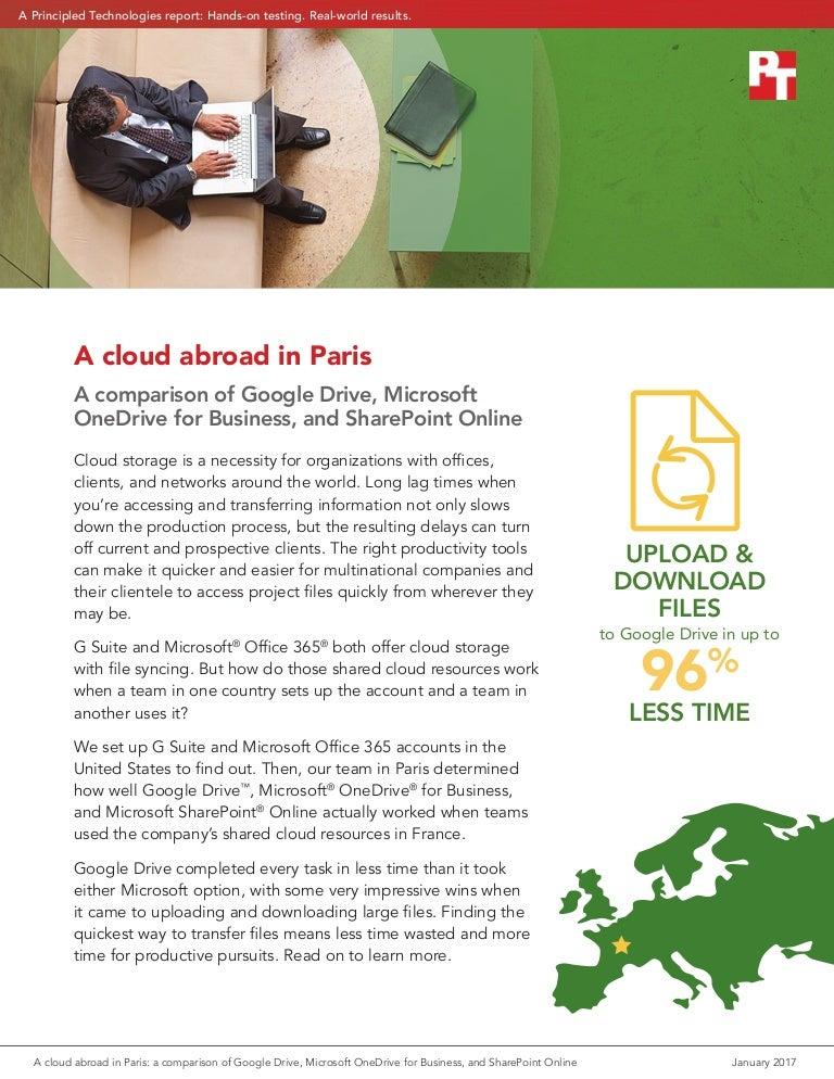 A cloud abroad in Paris: a comparison of Google Drive
