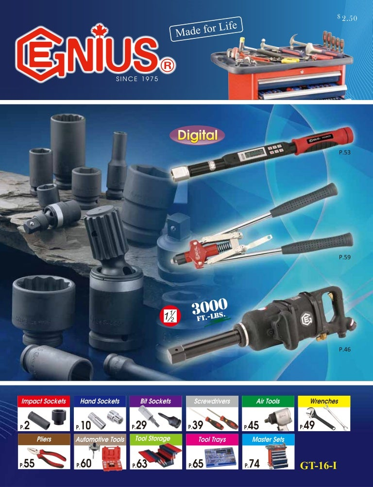 3-5//8 Impact Socket 938716 Genius Tools 1-1//2 Dr