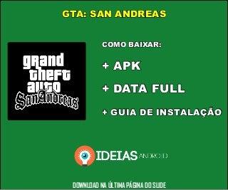 DOWNLOAD: GTA San Andreas APK+DATA (Completo)