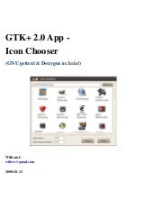 GTK+ 2.0 App - Icon Chooser