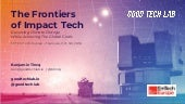 The Frontiers of Impact Keynote @ MIT EmTech Europe 2018