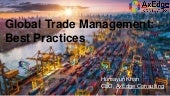 Global Trade Management : Best Practices