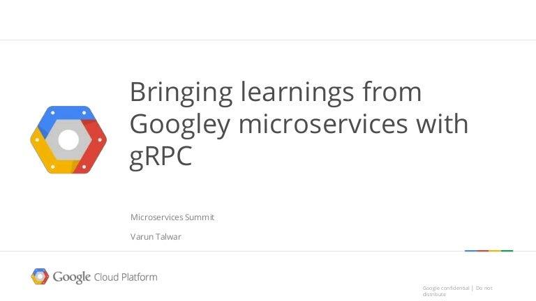 Microservices summit talk 1/31