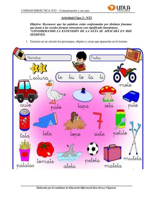 Guía de Aprendizaje Clase 3   NT2