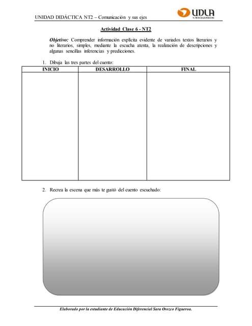 Guía de aprendizaje clase 6   nt2