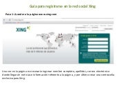 Guia de registro Red Social Xing