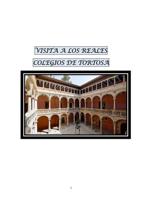 Guía los Reales Colegios de Tortosa