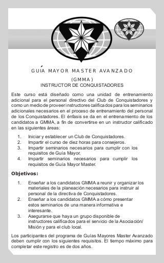 Guía Mayor Master Avanzado