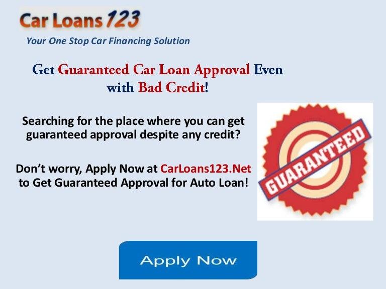 Guaranteed Car Loan Approval Bad Credit, Get Instant ...