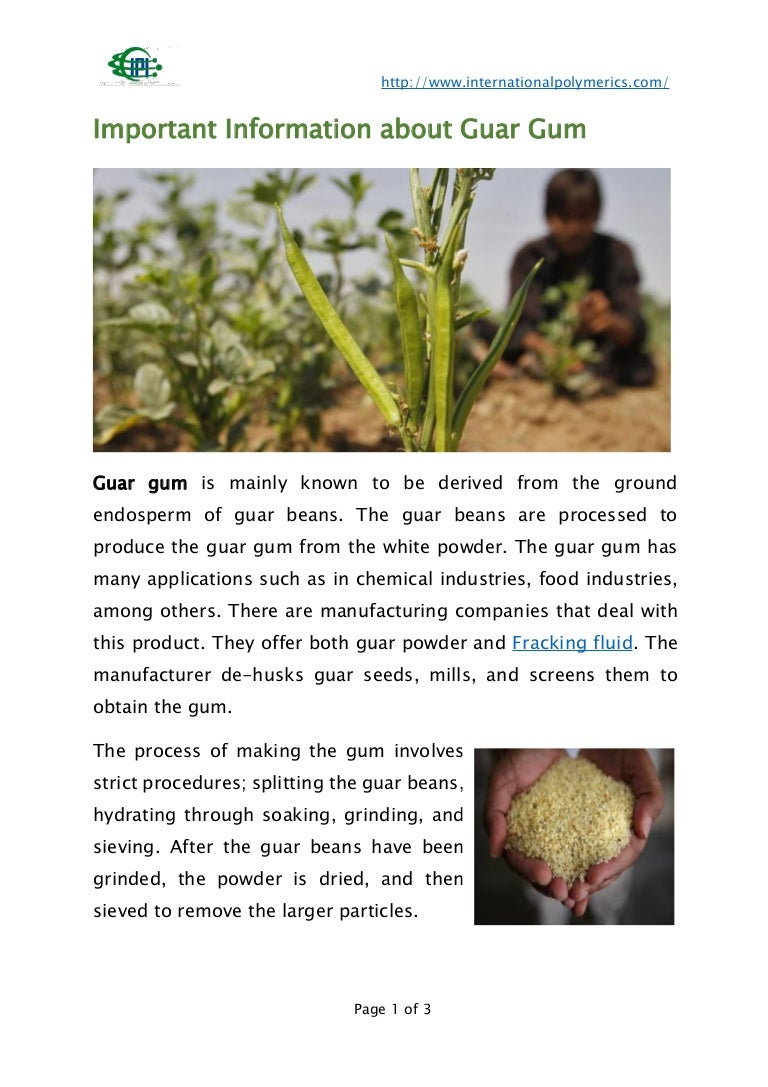 Guar gum: what it is and where it is used