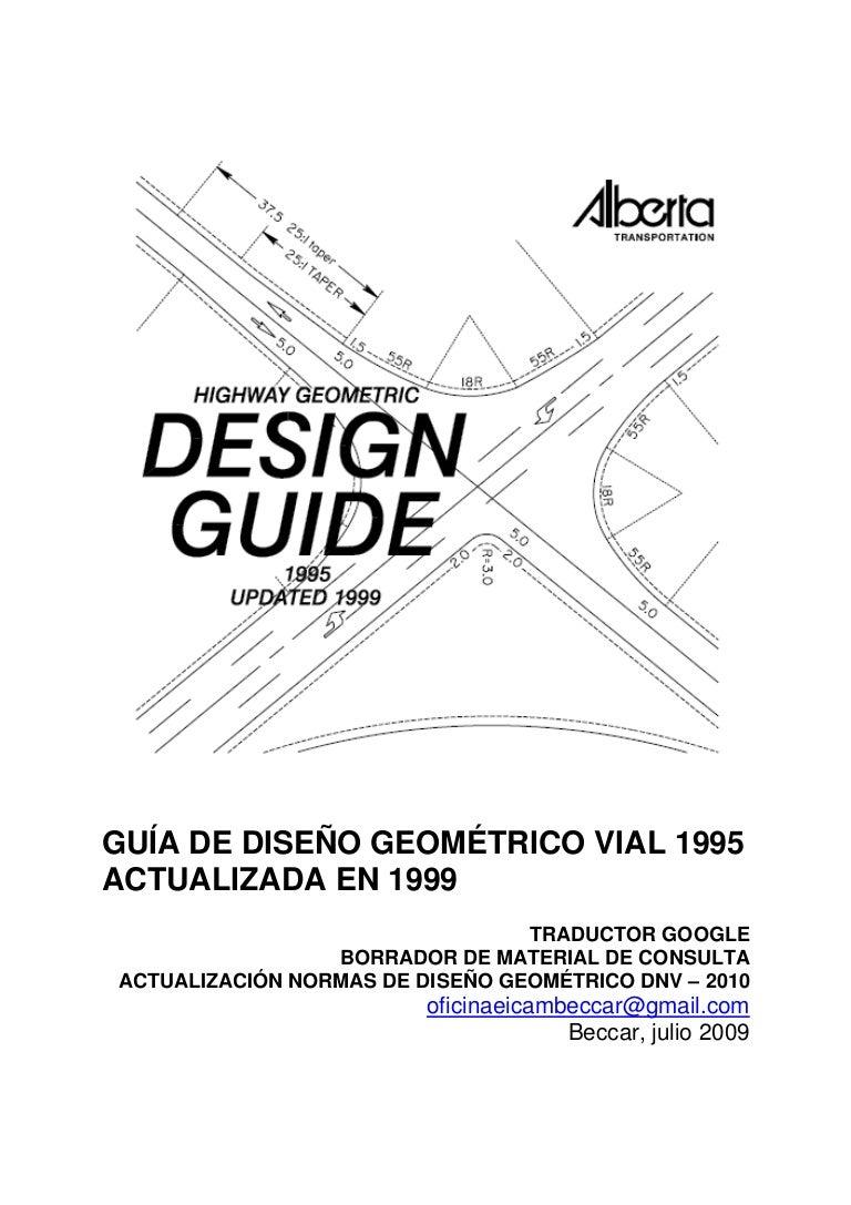 Guías diseño geométrico alberta canadá