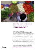 Rural Poverty in Guatemala